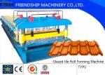 0.3mm - 0.8mm Roof Panel Glazed Tile Roll Forming Enquipment 18 Forming Stations