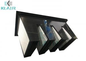 low carbon shedding mini pleated activated carbon filter gas phase