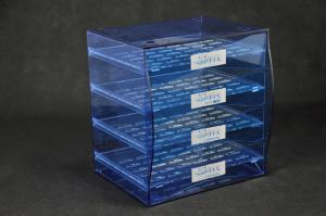 China Blue Jewellery Display Drawer Acrylic Storage Trays Bracelet Rack Transparent on sale