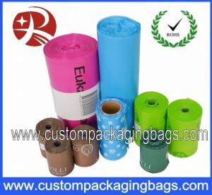 China EPI Biodegradable Colorful Dog Poop Bags With Roller For Store on sale