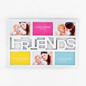 China Home decoration Funny forever friends theme six pictures plastic photo picture frame on sale