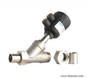 China PV200 Series (Male thread + Socket Welded) Angle Seat Valve on sale