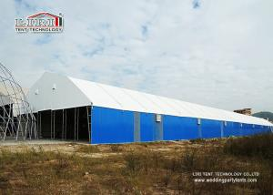 China 2000 Square Meters Metal Frame Steel Panel Permanent Industrial Storage Tents Structure Instant Set Up on sale