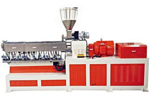 China 300 Kg / H Pvc Pelletizing Machine Twin Screw Extruder For Wire / Cable on sale