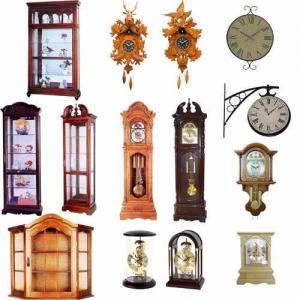 China Grandfather /Mantel / Quartz / Cuckoo Clock, Wood Cabinet on sale