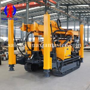 China full hydraulic air drilling rig JDL-400 from huaxia master /soil layer and bed rock water well drilling machine on sale