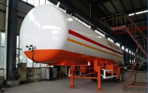China Double BPW/FUWA axles 17tons bulk road transported lpg gas tank, propane gas trailer on sale
