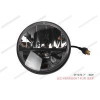 8000LM 7 Inch 30W Jeep LED Headlights For Harley Davidson VRSCA V Rod