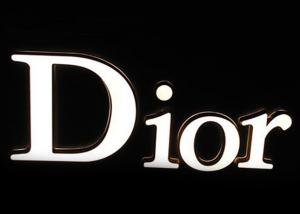 China Custom Dior Light Up Sign Letters ,  LED Commercial Advertising Luminous 3D Plastic Letters on sale
