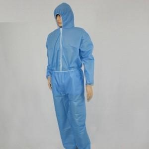 China CE Approved Disposable Nonwoven Protective Coveralls , Protective Suits White / Yellow / Blue on sale