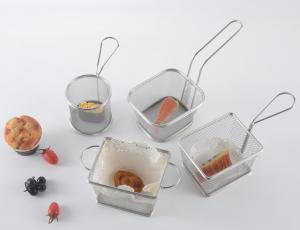 China High Quality Stainless steel 18/8 food strainer basket for chicken,potato,BBQ on sale