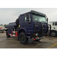 China HOWO 4X4 LHD Gasoline Transporting Oil Tank Truck / Petroleum Tanker Trucks on sale