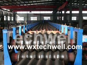 China Grain Silo Corrugated Wall Panel Roll Forming Machine on sale