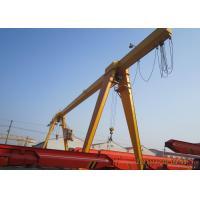 12 - 30m Span Single Girder Gantry Crane Lifting Equipment Remote Control With Hoist