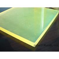 high tear strength PU sheet,colored Anti-abrasion board   little yellow   45A-95A