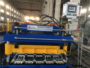 China 7.5KW G550 PPGI Steel Metal 0.7mm Roof Panel Roll Forming Machine on sale