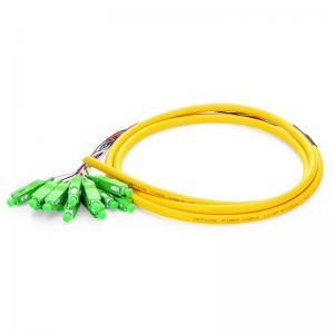 China Fiber Optic Patch Cord LC Distribution  Fiber Optic Pigtails Fanout Color Coded on sale