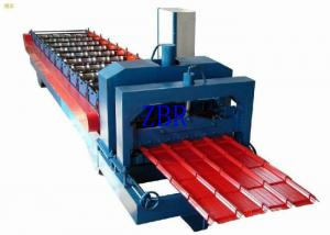 China PPGI PPGL Glazed Steel Roof Tile Roll Forming Machine 70mm Shaft Diameter on sale