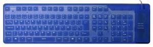 China Washable Flexible UK English Keyboard JH-FR109UK made of silicone on sale