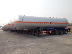China 56000L 3 Axles Petroleum Gas LPG Tank Trailer with ADR / ASME Standard on sale