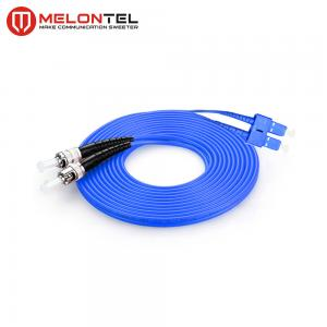 China FTTH Duplex Fiber Optic ST SC Patch Cord Armoured  Single Mode MT D1000 on sale