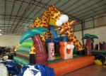 Lovely inflatable giraffe combo Palm tree inflatable bouncy for kids inflatable mini jumping