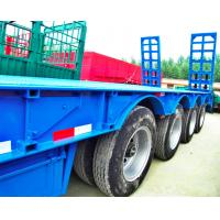 80 Tons 4 Axles Low Bed Semi Trailer 12 Pcs Tyre 11.00R20 Tyre Model