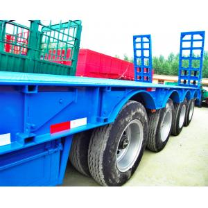 China 80 Tons 4 Axles Low Bed Semi Trailer 12 Pcs Tyre 11.00R20 Tyre Model on sale