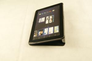 China 2012 Newest Magnetic slim cow leather stand case for 7 inch Samsung Tablet PC on sale
