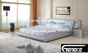 China Pearl Leather Bed Quality Bed on sale