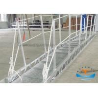 China Gangway Marine Boat Ladders Anodized Surface JIS Standard With Safety Net on sale