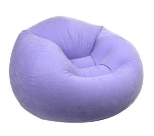 Round Single Soft Air Sofa Inflatable Bed For Relax