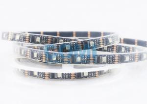 China IP67 Weatherproof Black FPC Digital LED Strip Lights Multi Color 32LEDs & 32pixels / m on sale