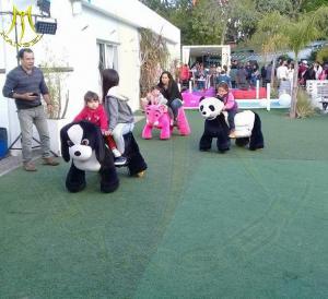 China Hansel High quality plush animal design electric kids ride on stuffed animals on sale