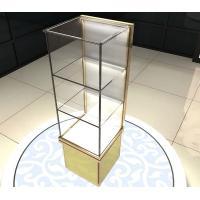 Perfume Cosmetics Bangle Jewelry Glass Display Shelves Retail With 3 Layers