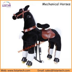 China Adult Horse Action Pony, Ride on Toy, Mechanical Moving Horse, Black Giddyup for Children on sale