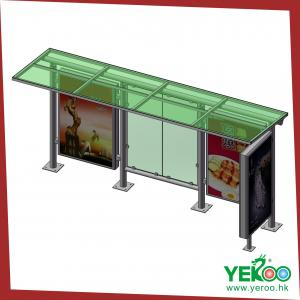 China Outdoor street furture bus shelter advertising lightbox on sale