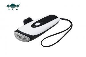 China ABS + PS Hand Press Led Dynamo Flashlight Hand Crank Torch Lightweight on sale