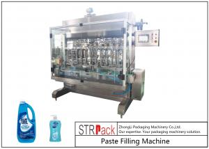 China 10 Head Paste Filling Machine Wide Filling Range For Low / High Viscosity Fluids on sale