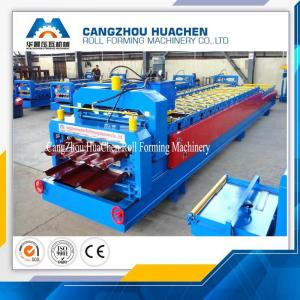 China Aluminium Cold Roof Sheet Double Layer Roll Forming Machine 8-10 M/Min Working Speed on sale