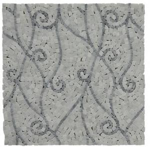 China Fashional Water Jet Marble Mosaic Tile 7 Mm / 8mm Thickness Optional on sale