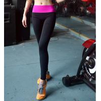 Fashion Womens Yoga Wear Black Running Tights in Wide Waist Style