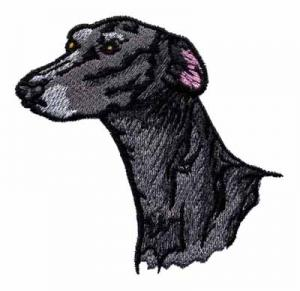 Quality Embroidery digitizers black bull dog head WGE10903 for sale