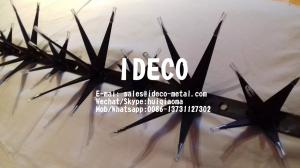 China Black Powder Coated Super Wall Spikes, Flower type Wall Spikes, Razor Fence Spikes for Mexico on sale