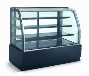 China Curved Glass Refrigerated Bakery Display Case , Bakery Refrigerator Showcase on sale