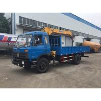 6 Wheel Truck Mounted Hydraulic Crane , 5 Tons XCMG Powerful Truck Mounted Knuckle Boom Cranes