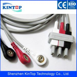 China High quality Reliable quality HP ecg cable 3 lead wires , 2pin ,AHA,Snap ,durable in use on sale