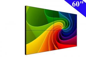 China 2x2 lcd video wall 60 inch wall mounted lcd display with narrow bezel 6.5mm on sale