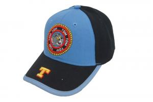 China Character Style Black Denim Baseball Cap With Embroidery Pattern on sale