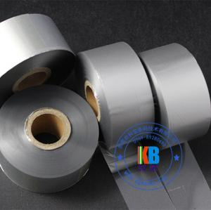 China High quality resin material metallic silver thermal barcode ribbon 35mm*450m for fabric satin label ribbon on sale